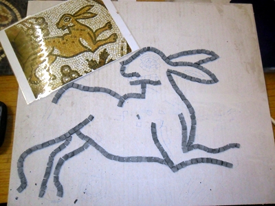 Roman mosaic hare